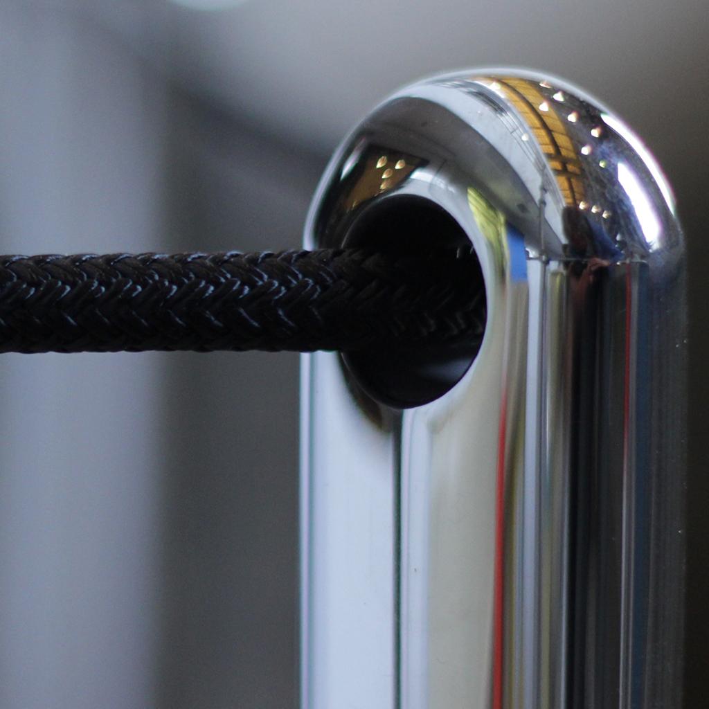 High-gloss Steel removable railing